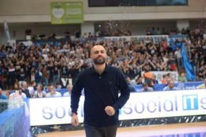 L'allenatore dell'Aquila Trento Maurizio Buscaglia