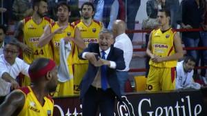 Marco Calvani carica i suoi giocatori