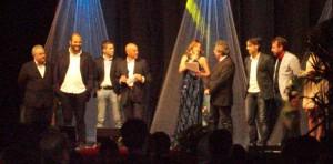 Un momento di una premiazione durante la serata del Gran Gala dello Sport 2014