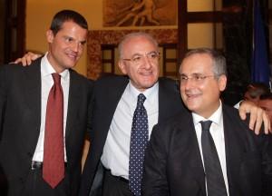 Mezzaroma e Lotito, presidente della Lazio, hanno rilanciato il calcio a Salerno. Tenteranno un nuovo assalto alla serie B