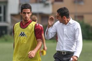 Andrea Ientile con il tecnico della Primavera del Torino Moreno Longo