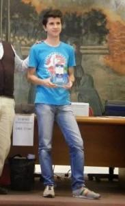 Antonio Iannello durante la premiazione