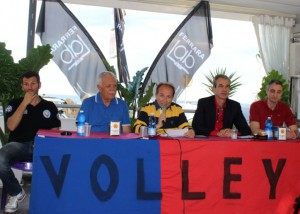 La presentazione del tecnico dell'Effe Volley Claudio Mantarro