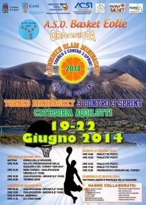 La locandina del torneo riservato alla categorua Aquilotti e svoltosi a Vulcano