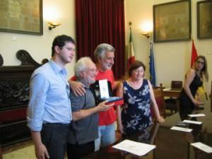 Tommaso Virga, Vittorio Virga, Renato Accorinti e Maria Trinchera Virga