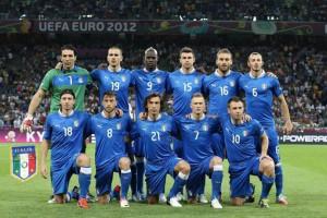 Una formazione della nazionale italiana