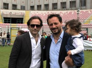 Il direttore sportivo giallorosso con il presidente Isidoro Torrisi