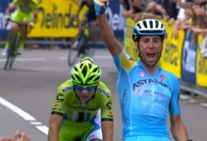 Nibali sul traguardo del Campionato Italiano