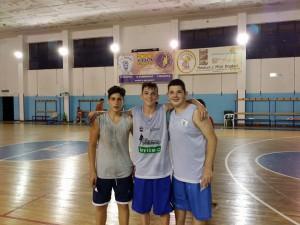 I vincitori della categoria Under 15 dello Street Basket