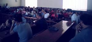 I tifosi presenti nell'aula consiliare nel giorno della presentazione ufficiale del Consorzio