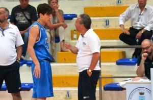 Tommaso Laquintana a colloquio con l'allenatore Pino Sacripanti