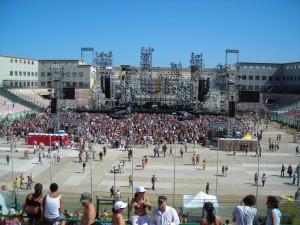 Il San Filippo visto dalla Tribuna Nord in occasione del concerto di Vasco Rossi nel 2007