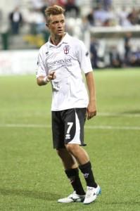 Vincenzo Pepe con la divisa della Pro Vercelli
