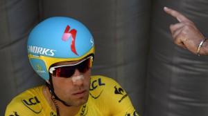 Nibali alla partenza della crono