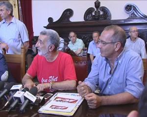 Accorinti e De Cola in conferenza stampa