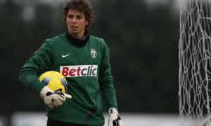 Il portiere Federico Gagliardini con la maglia della Juventus