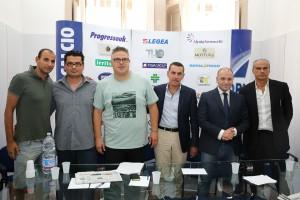 Anche i preparatori atletici Marco Cafà e Lucio Fiammetta in posa