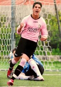 Fabrizio Ferrante con la maglia del Palermo