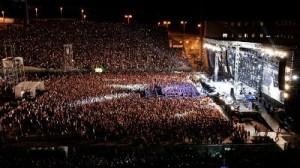 Lo stadio stracolmo in occasione dell'esibizione di Ligabue nel 2010