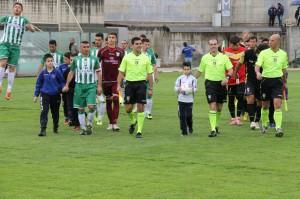 Giampà entra in campo con la Vigor nell'ultima sfida con il Messina