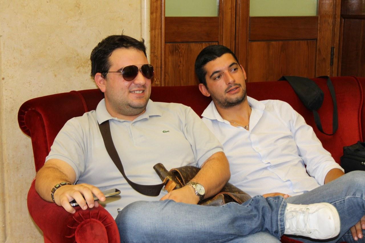 I segretari del Messina Alessandro Raffa ed Antonino Minutoli (foto Paolo Furrer)