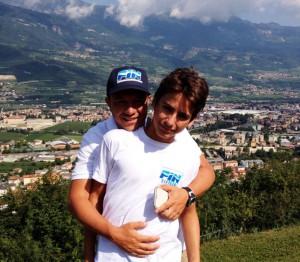 Emanuele La Torre con il tecnico Alessandro Accolla