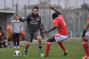 Samuele Stampa con la divisa del Livorno