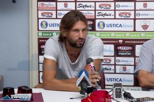 Il difensore Christian Terlizzi in conferenza stampa