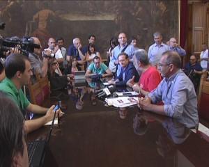 Un momento dell'incontro con i giornalisti