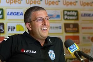 Giulio Gricicoli nel giorno della sua presentazione ufficiale come tecnico dell'Orlandina (foto Lenzo)