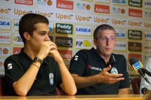 Il direttore sportivo Giuseppe Sindoni e il nuovo allenatore Giulio Griccioli