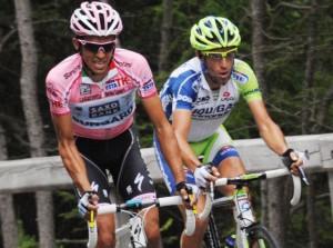 Uno dei tanti duelli fra Nibali e Contador