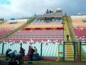 Uno scorcio dello stadio San Filippo