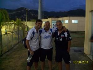 Giuseppe Colucci con il collaboratore Giovanni Montenegro e il tecnico Ferdinando De Matthaeis