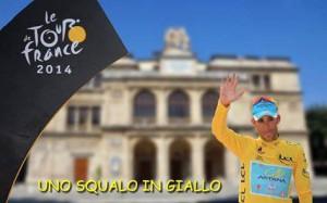 Vincenzo Nibali in maglia gialla