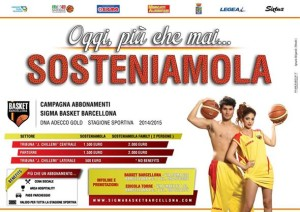 """""""Sosteniamola"""", un'iniziativa a sostegno della Sigma Barcellona"""
