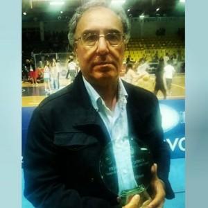 Il dirigente paladino ha ritirato il premio Nino Donia assegnato alla migliore società siciliana