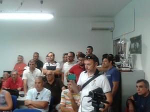Il folto gruppo di presenti nella sede sociale
