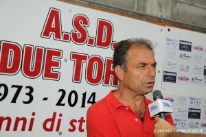 Il tecnico del Due Torri Antonio Venuto ai nostri microfoni (foto Carmelo Lenzo)