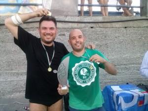 I vincitori Andrea Porceddu e Tonino Celona