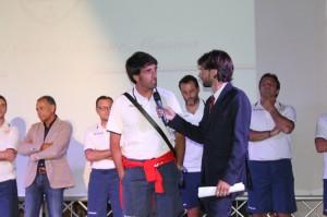 Il tecnico del Messina Gianluca Grassadonia nel corso della presentazione