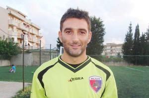 Stefano Bucca con la maglia del Città di Milazzo