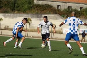 Abdelkader Maouel in azione nel test dell'Orlandina con il Rocca di Capri Leone