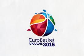 Logo di EuroBasket 2015, manifestazione che non si svolgerà più in Ucraina dopo i fatti degli ultimi tempi