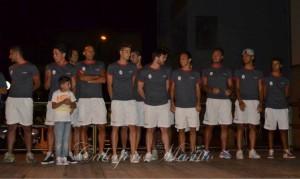 Foto di gruppo sul palco per i giocatori del rinnovato Rocca di Capri Leone Foto di gruppo sul palco per i giocatori del rinnovato Rocca di Capri Leone