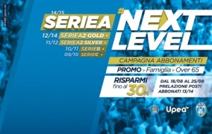 "Locandina ""#NextLevel"", la campagna abbonamenti varata dall'Orlandina Basket"