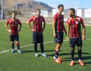 Alcuni calciatori del Milazzo