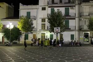 L'esibione Minibasket svoltasi in piazza a Spadafora