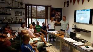 Una fase del corso di aggiornamento arbitri Rugby Sicilia