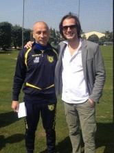 Ivan Parlato assieme ad Eugenio Corini, allenatore del Chievo